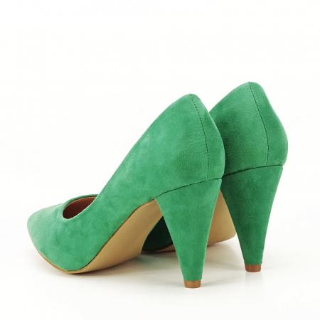 Pantofi verzi cu toc conic Dion1