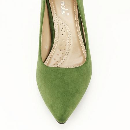 Pantofi verzi cu toc gros Adelina6