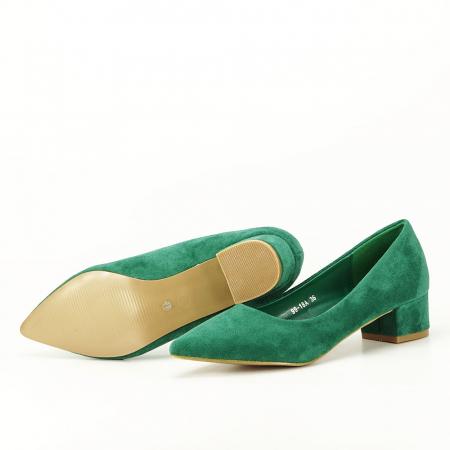 Pantofi verzi cu toc mic Elisa6