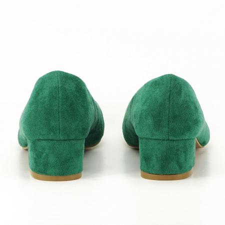 Pantofi verzi cu toc mic Elisa7