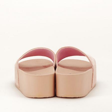 Papuci roz pal cu platforma Mery [6]