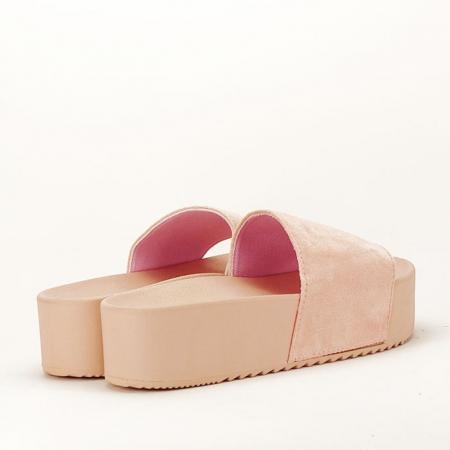 Papuci roz pal cu platforma Mery [7]