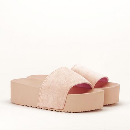 Papuci roz pal cu platforma Mery3