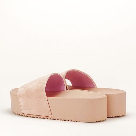 Papuci roz pal cu platforma Mery5