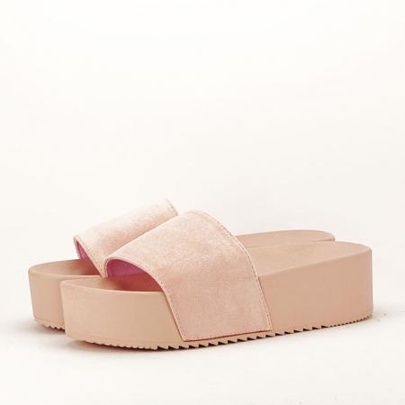 Papuci roz pal cu platforma Mery [1]