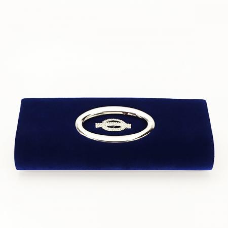 Plic albastru inchis din catifea Gloria [4]