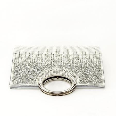 Plic argintiu cu cristale Lucy [5]