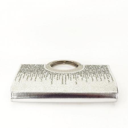 Plic argintiu cu cristale Lucy [6]