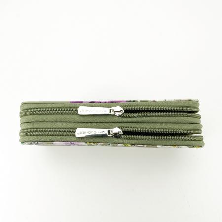 Portofel kaki cu imprimeu Coralia [4]