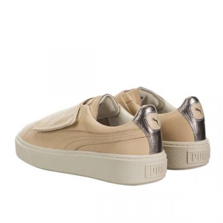 Puma Pantofi sport Suede Platform Bigv Cameo din piele naturala3