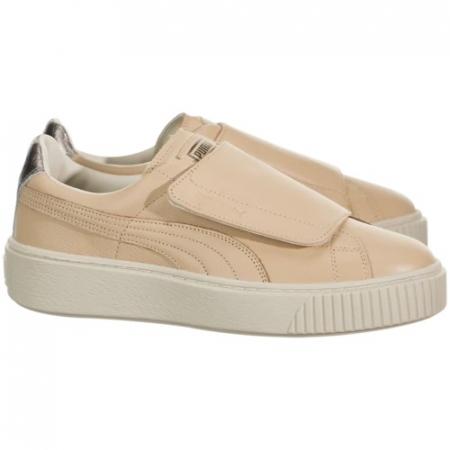Puma Pantofi sport Suede Platform Bigv Cameo din piele naturala1