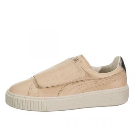 Puma Pantofi sport Suede Platform Bigv Cameo din piele naturala0