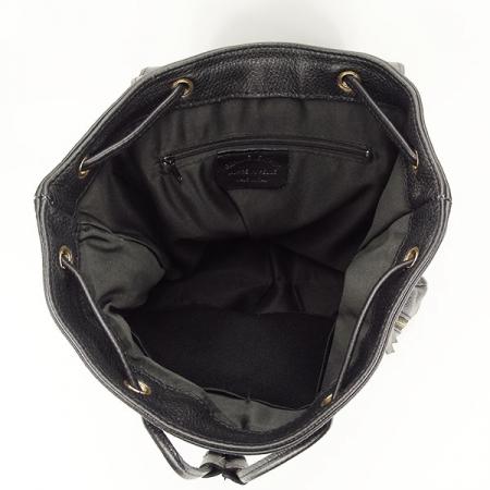 Rucsac negru din piele naturala Victoria2