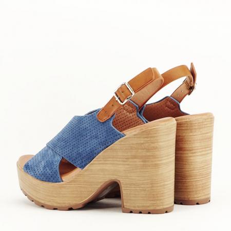 Sandale albastre cu platforma Annabel7
