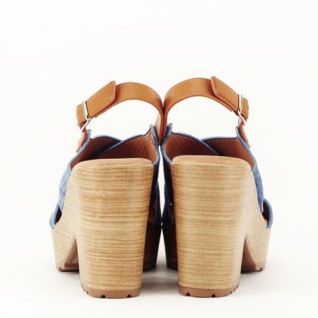 Sandale albastre cu platforma Annabel6
