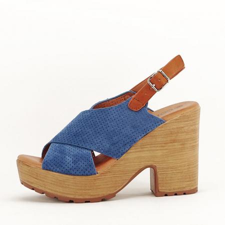 Sandale albastre cu platforma Annabel1