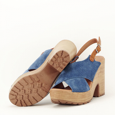 Sandale albastre cu platforma Annabel3