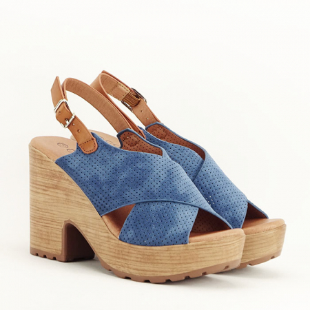 Sandale albastre cu platforma Annabel4