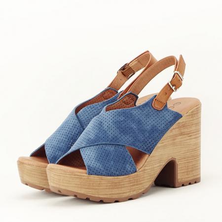 Sandale albastre cu platforma Annabel2