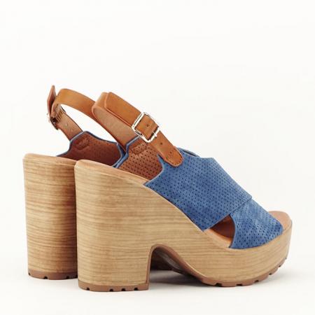 Sandale albastre cu platforma Annabel5