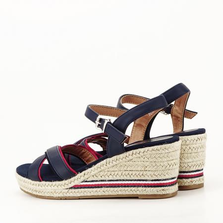 Sandale albastre cu platforma Clarissa [6]