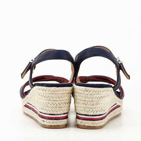 Sandale albastre cu platforma Clarissa [5]