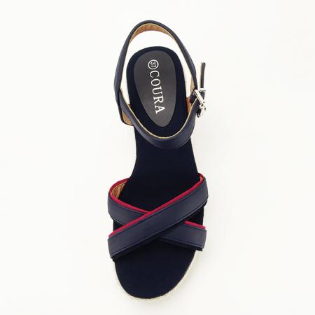 Sandale albastre cu platforma Clarissa [2]