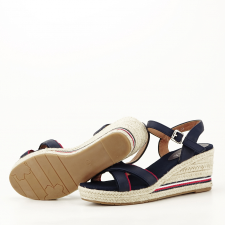 Sandale albastre cu platforma Clarissa [8]