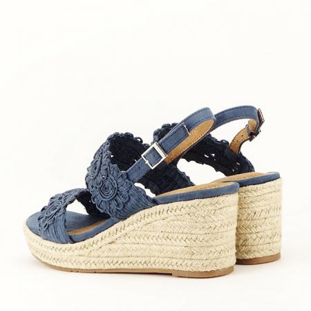 Sandale albastre cu platforma Dalia6