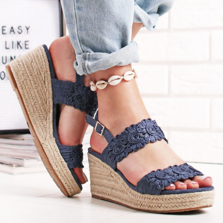 Sandale albastre cu platforma Dalia0
