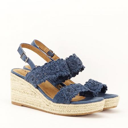 Sandale albastre cu platforma Dalia5