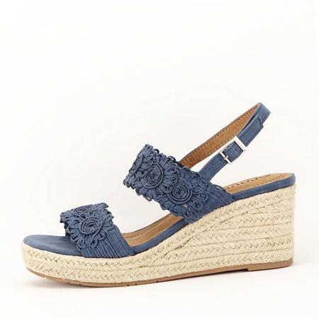 Sandale albastre cu platforma Dalia1