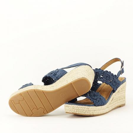 Sandale albastre cu platforma Dalia4