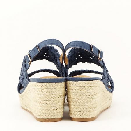 Sandale albastre cu platforma Dalia7