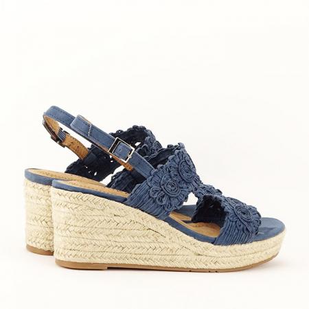 Sandale albastre cu platforma Dalia8
