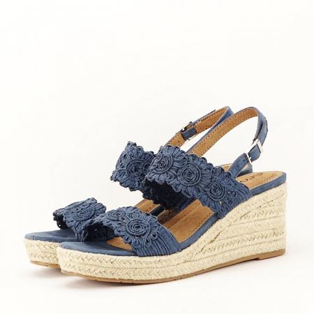 Sandale albastre cu platforma Dalia3