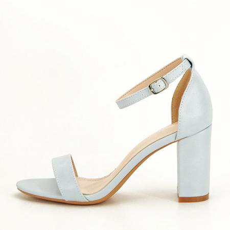 Sandale albastre cu toc gros Ingrid [1]