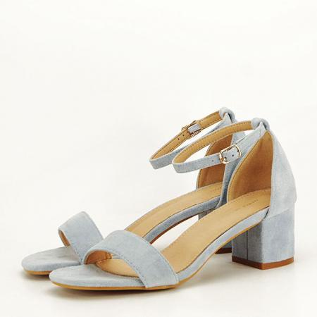 Sandale albastre din velur Lorena [1]