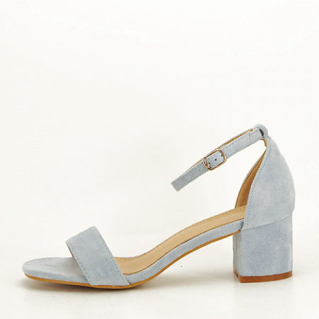 Sandale albastre din velur Lorena [0]