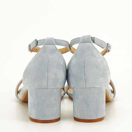 Sandale albastre din velur Lorena [5]
