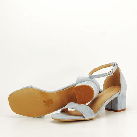 Sandale albastre din velur Lorena [6]