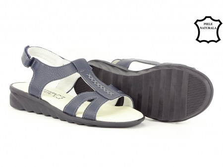 Sandale bleumarin din piele naturala Silvia3
