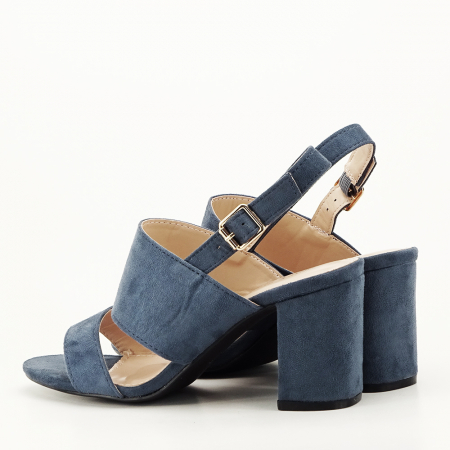 Sandale albastru petrol cu toc comod Paloma7