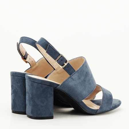 Sandale albastru petrol cu toc comod Paloma2