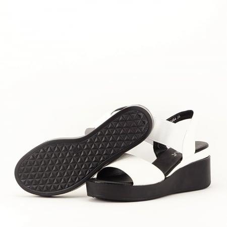 Sandale albe cu platforma Beth3