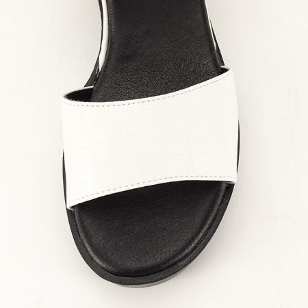 Sandale albe cu platforma Beth8