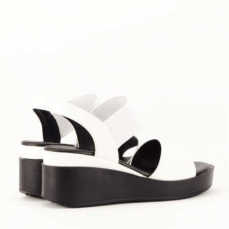Sandale albe cu platforma Beth7