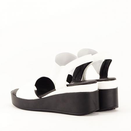 Sandale albe cu platforma Beth5