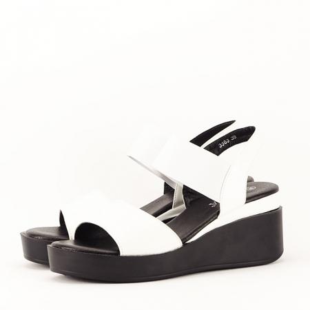 Sandale albe cu platforma Beth2