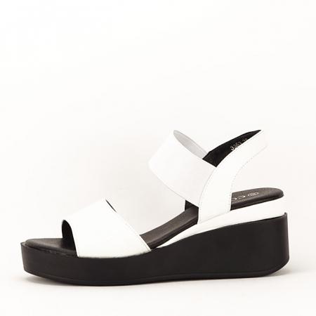 Sandale albe cu platforma Beth1